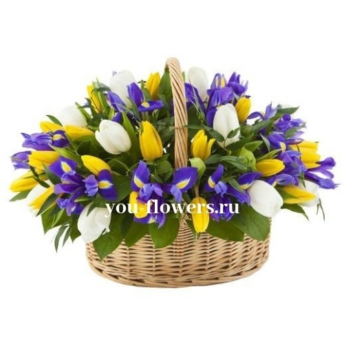 """Корзина цветов """"Весенние мечты"""""""